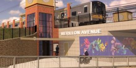 Illustrative Rendering of Merillon Avenue Station (Nassau Boulevard View)